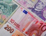 Koruna, euro, CZK, EUR - ilustrační foto