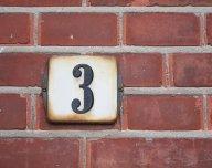 Tři, trojka, číslo tři, 3 - ilustrační foto