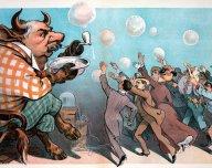 Býk, bublina, akciové šílenství, spekulace - ilustrační foto