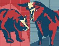 Býk, medvěd, býčí trh, medvědí trh - ilustrační foto