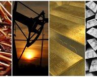 Komodity (zlato, stříbro, měď, ropa) - ilustrační foto