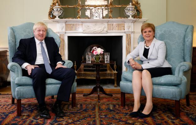 Boris Johnson a Nicola Sturgeon