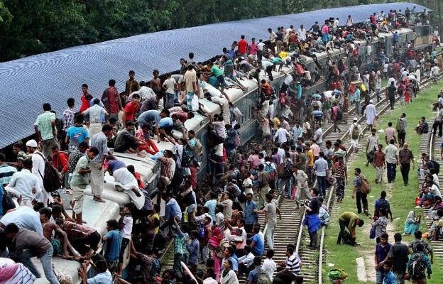 Dav, vlak, Pákistán, doprava, psychologie