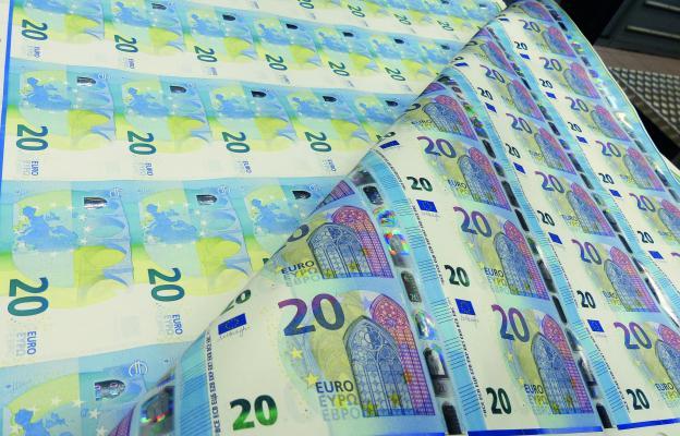 Tištění peněz, tisk peněz, tisk eur, euro, bankovky